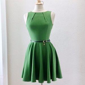 NEW Closet London Green Flare Dress UK 8 / US 4